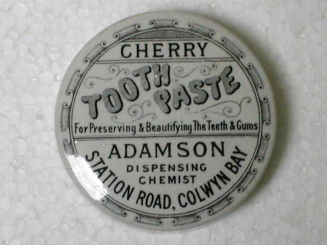 Adamson, Dispensing Chemist, Station Road, Colwyn Bay, Cherry Tooth Paste
