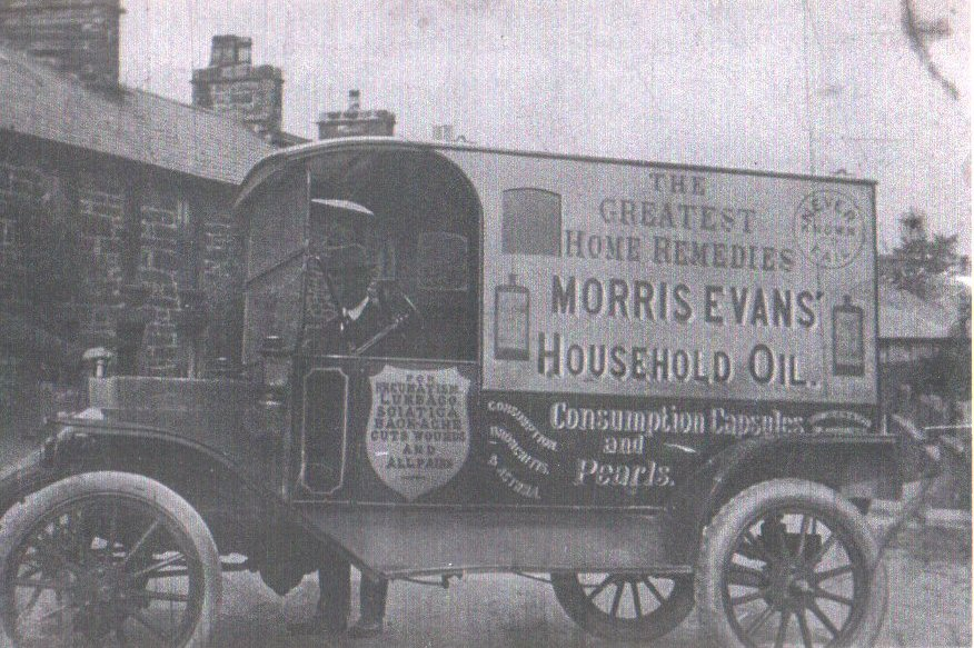 Morris Evans and his delivery truck